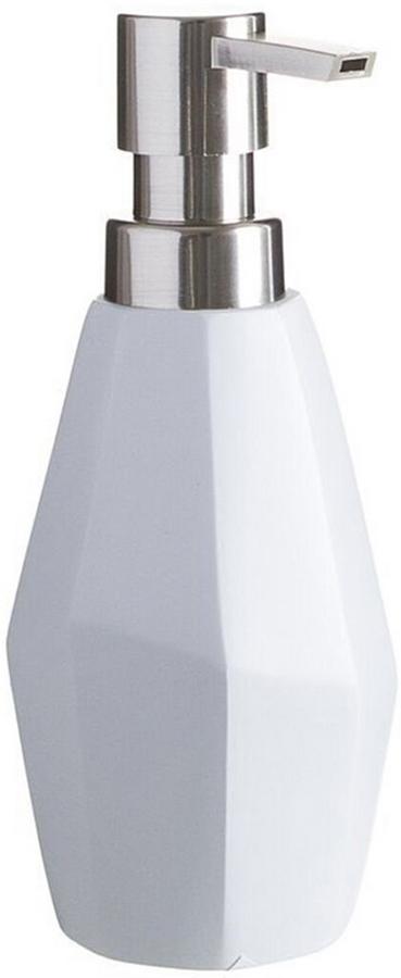 Дозатор для жидкого мыла D'Casa Diamond, цвет: белый, 250 мл