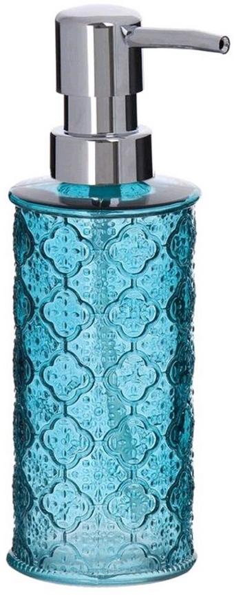 Дозатор для жидкого мыла  объемом 300 мл. Он изготовлен из стекла. Дозатор удобен в использовании и отлично впишется в интерьер вашей ванной комнаты.