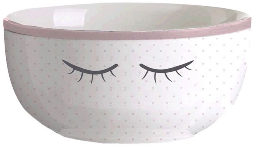 Салатник DCasa Chic, цвет: белый2700104Керамический салатник DCasa Chic декорирован минималистичным принтом в виде закрытых глазок. Круглая форма и нежная расцветка делают изделие универсальным для использования с любой столовой посудой.