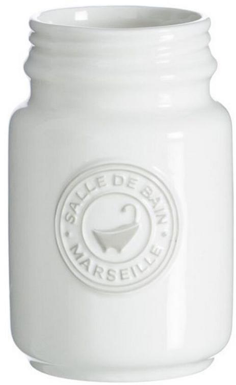 Стакан для зубных щеток DCasa Marseille, цвет: белый. 274221274221Стакан для зубных щеток Marseille белый