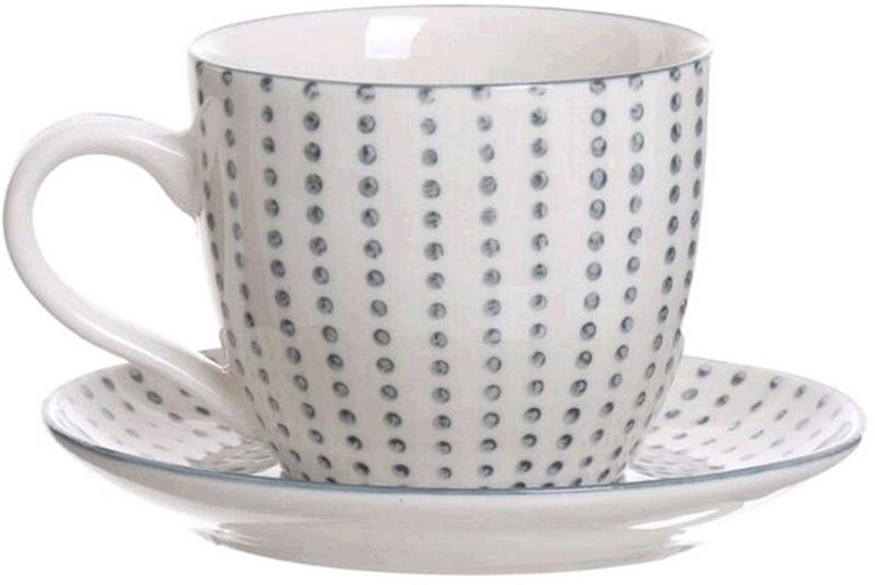 """Набор """"Topos"""", состоит из 6 чашек для кофе и 6 блюдец, выполненных из высококачественной керамики. Материал изделий абсолютно безопасен для здоровья.  Набор """"Topos"""" оригинального дизайна позволит насладиться вашими любимыми напитками. Прекрасный подарок для друзей и близких.  Можно мыть в посудомоечной машине.  Объем чашки: 190 мл."""