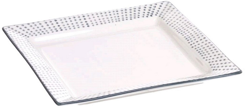Тарелка Topos придется по вкусу любителям оригинальной сервировки. Качественная керамика и лаконичный дизайн гарантируют удачный выбор и достойное место на кухне и в столовой.