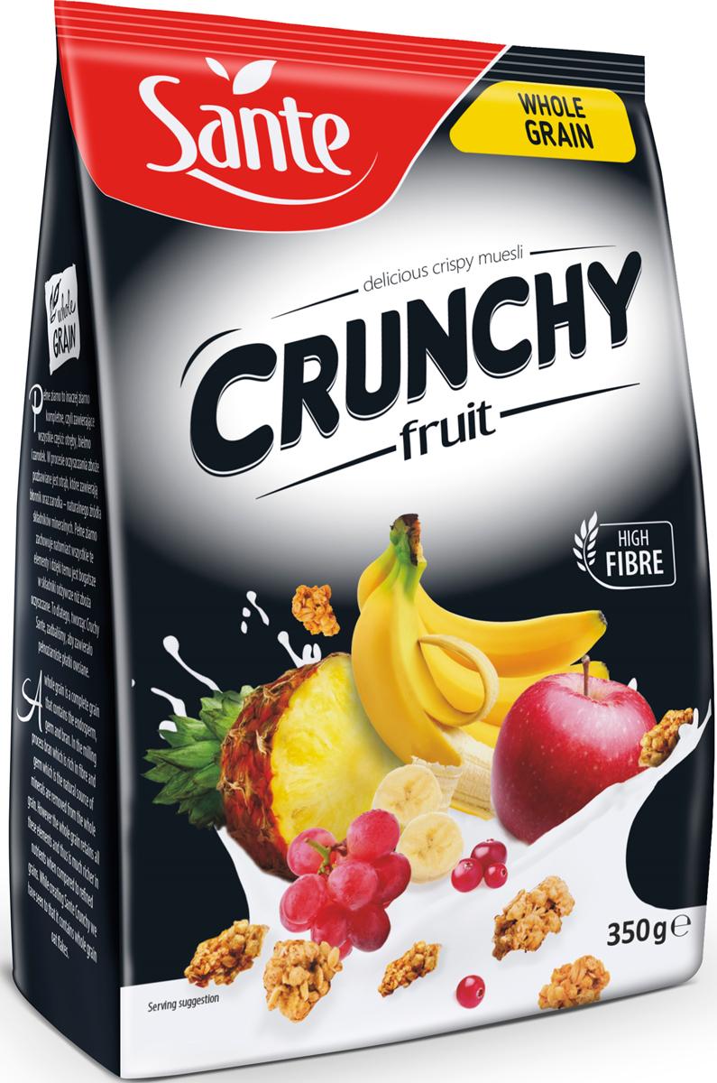 Sante Crunchy хрустящие овсяные хлопья с фруктами, 350 г sante granola хрустящие злаковые хлопья