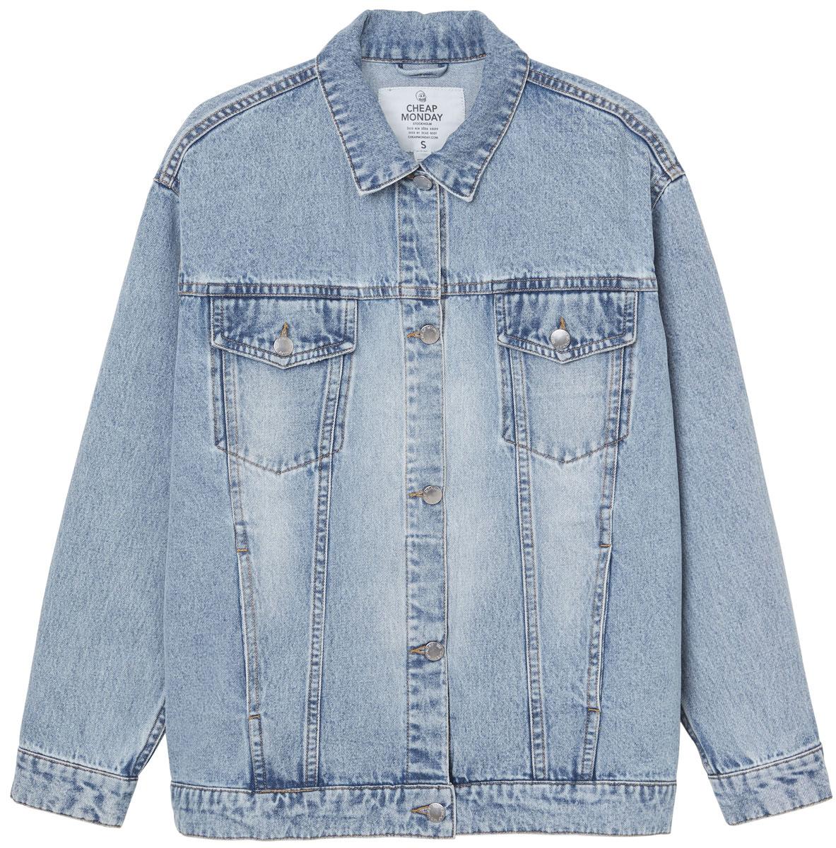 Куртка женская Cheap Monday, цвет: голубой. 0504721. Размер M (44) свитшот женский cheap monday цвет оливковый 0556772 размер m 44