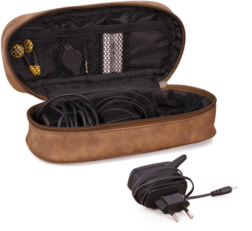 Органайзер для проводов Balvi l'Hedoniste, цвет: коричневый, 21,5 х 9 х 7 см