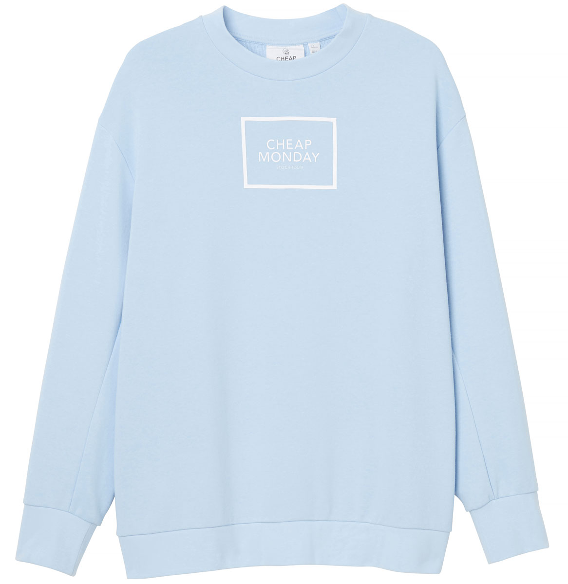 Свитшот женский Cheap Monday, цвет: голубой. 0556772. Размер XS (40) цена 2017