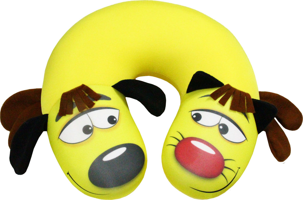 """Подушка антистрессовая Штучки, к которым тянутся ручки """"КотоПес"""", цвет: желтый, 35 х 33 см"""