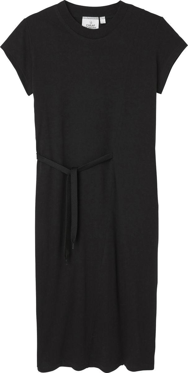 Платье Cheap Monday, цвет: черный. 0520732. Размер XS (40)0520732_BLACKПлатье Cheap Monday выполнено из натурального хлопка. Модель с круглым вырезом горловины и короткими рукавами. Дополнено изделие сбоку текстильным шнурком.