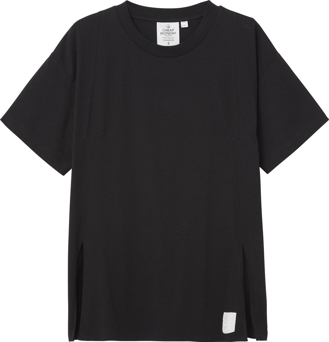 Футболка женская Cheap Monday, цвет: черный. 0515777. Размер XS (40) футболка женская diesel цвет черный 00svvp 0canr 900 размер xs 40