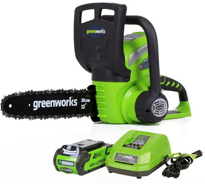 Цепная пила аккумуляторная Greenworks 40В аккумуляторная цепная пила greenworks 40v g max g40cs30 с аккумулятором 2ah и зарядныйм устройством
