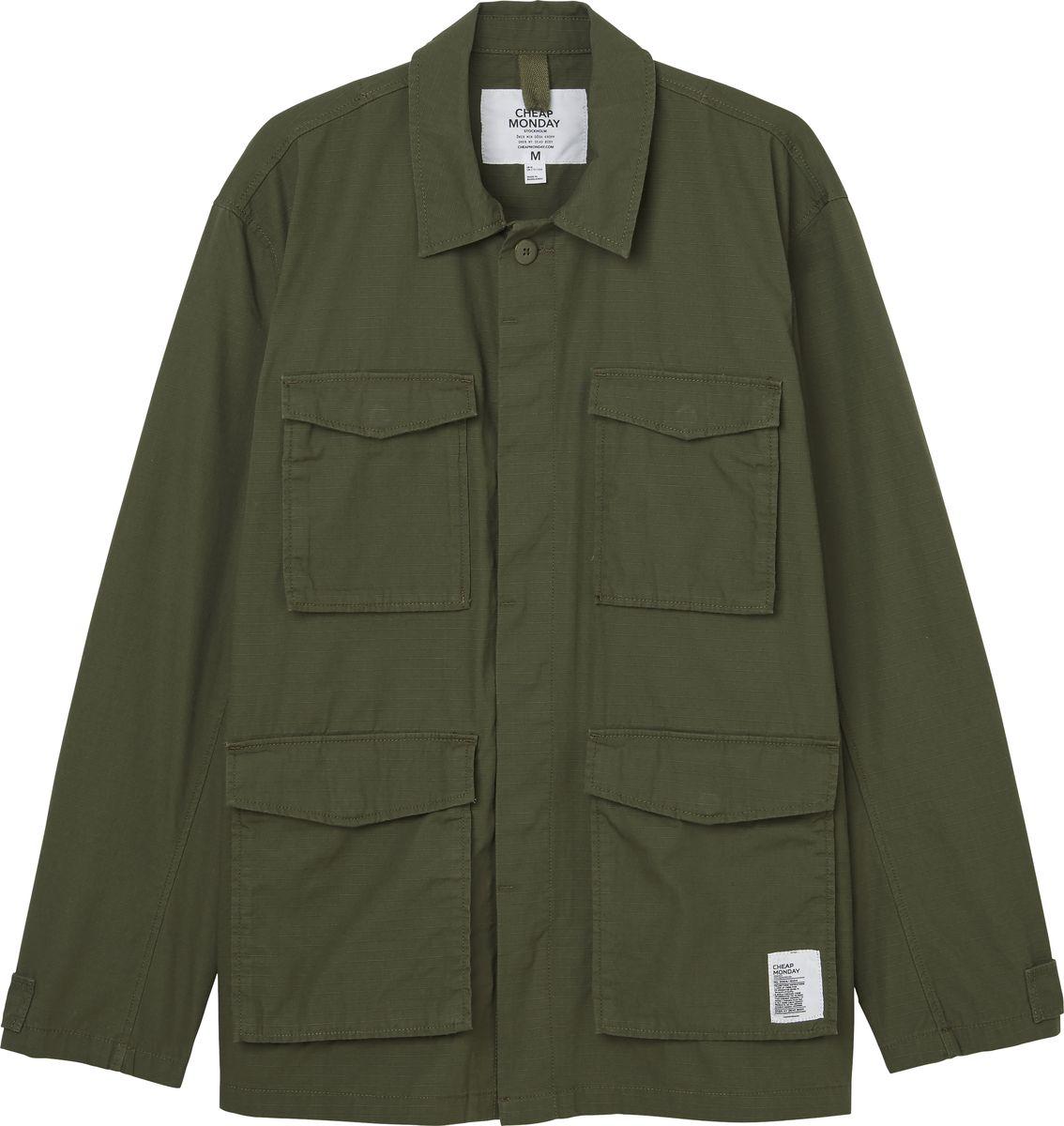 Куртка мужская Cheap Monday, цвет: оливковый. 0506156. Размер XS (44) куртка утепленная cheap monday cheap monday ch839emwwj95