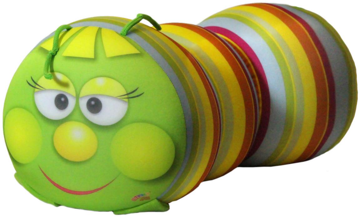 Подушка-валик антистрессовая Штучки, к которым тянутся ручки Гусеница, цвет: салатовый, 38 x 18 см. 12аси03ив-112аси03ив-1Антистрессовая подушка из эластичного трикотажа с наполнителем из вспененного полистирола. Мягкий и приятный на ощупь материал, наполнитель вспененный полистирол - абсолютно безопасный и гипоаллергенный. Подушка - антистресс станет идеальным подарком для любого вашего знакомого, независимо от возраста! Размер 38*18 см.