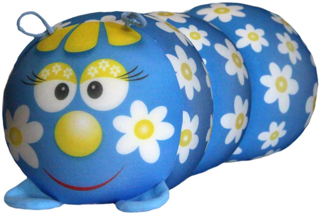 Подушка-валик антистрессовая Штучки, к которым тянутся ручки Гусеница. Ромашка, цвет: голубой, 38 x 18 см12аси03ив-3Антистрессовая подушка из эластичного трикотажа с наполнителем из вспененного полистирола. Мягкий и приятный на ощупь материал, наполнитель вспененный полистирол - абсолютно безопасный и гипоаллергенный. Подушка - антистресс станет идеальным подарком для любого вашего знакомого, независимо от возраста! Размер 38*18 см.
