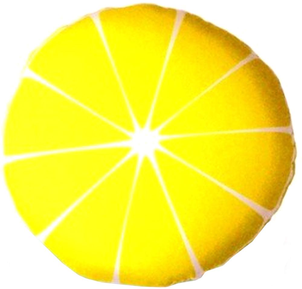 Подушка антистрессовая Штучки, к которым тянутся ручки Смайл-фрукты. Лимон, цвет: желтый, 31 x 31 см