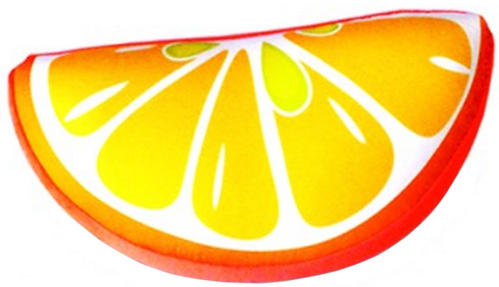 Подушка-долька антистрессовая Штучки, к которым тянутся ручки Фрукты. Апельсин, цвет: оранжевый, 30 x 20 см