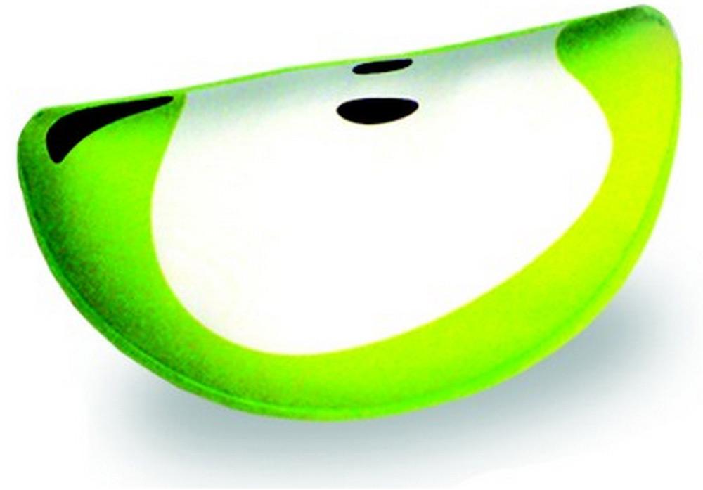 Подушка-долька антистрессовая Штучки, к которым тянутся ручки Фрукты. Яблоко, цвет: светло-зеленый, 30 x 20 см13аспд01ив-4Антистрессовая подушка из эластичного трикотажа с наполнителем из вспененного полистирола. Мягкий и приятный на ощупь материал, наполнитель вспененный полистирол - абсолютно безопасный и гипоаллергенный. Подушка - антистресс станет идеальным подарком для любого вашего знакомого, независимо от возраста! Размер 30*20 см.