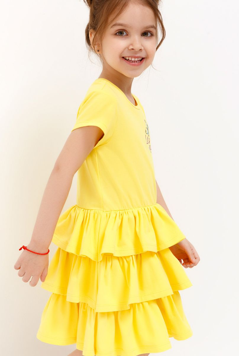 Платье для девочки Acoola, цвет: желтый. 20220200245_1200. Размер 128 платье overmoon by acoola overmoon by acoola ov003eguci55