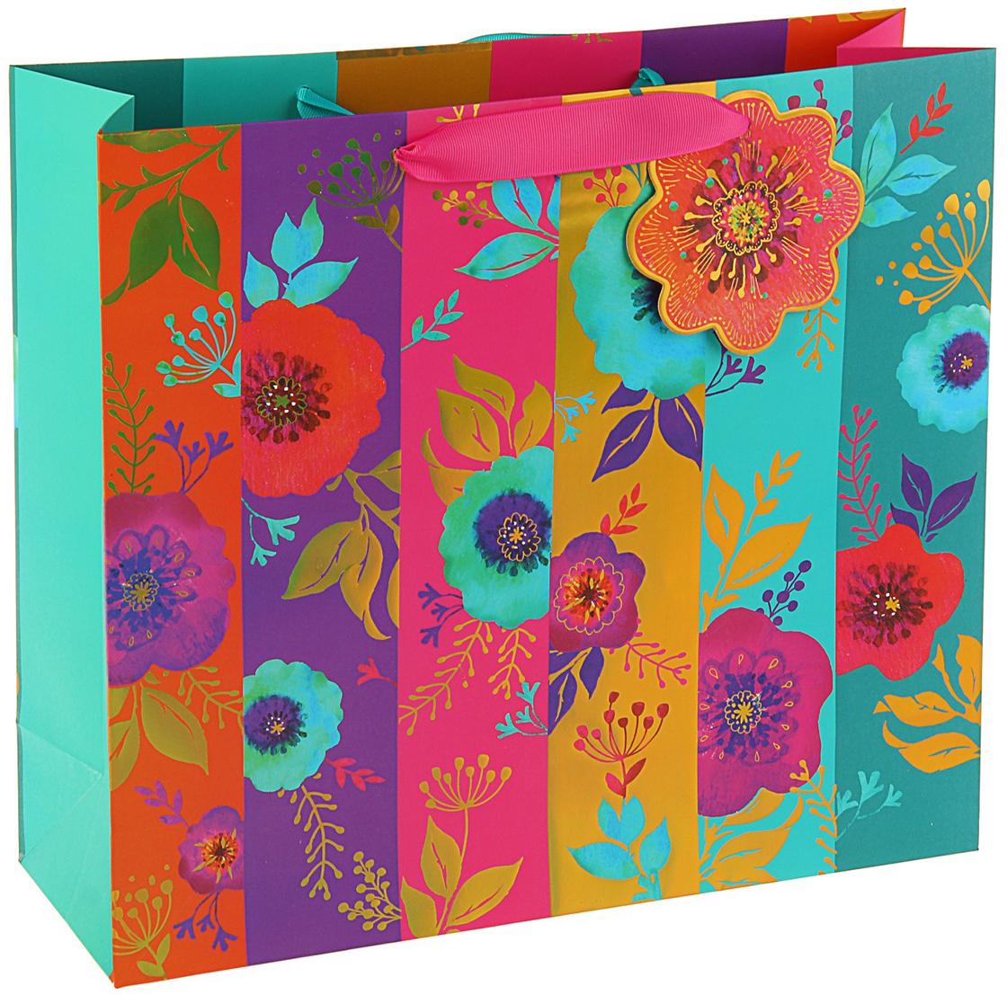 Пакет подарочный Арт и Дизайн Люкс. Гламурное лето, цвет: мультиколор, 32 х 36 х 12 см. 3092252 пакет подарочный арт и дизайн вояж цвет мультиколор 36 х 26 х 11 5 см 3092217