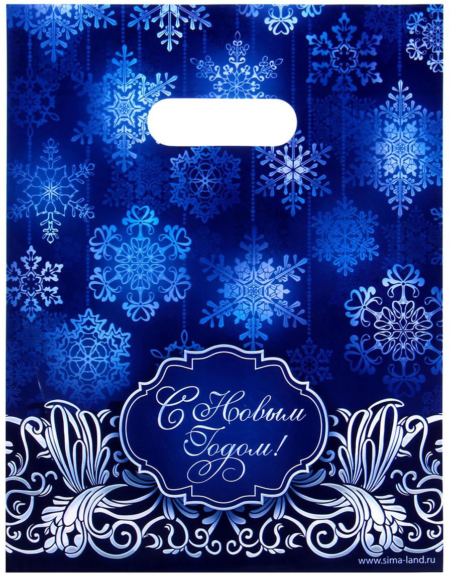 Пакет подарочный Дарите Счастье Снежинки, цвет: мультиколор, 17 х 20 см. 10450041045004В чем секрет идеального новогоднего презента? Правильно: в упаковке! Она завершает образ подарка и создает настоящую праздничную атмосферу. Яркий и очень красивый Пакет подарочный полиэтиленовый Снежинки изготовлен из высококачественного полиэтилена (60 мкм) и обладает исключительной прочностью. Изображение на нем нанесено при помощи ультрасовременного оборудования, поэтому рисунок не стирается и не выцветает. В пакет поместится до 300 граммов конфет. Также он подойдет для упаковки небольшого подарка - например, косметики или сувенира.