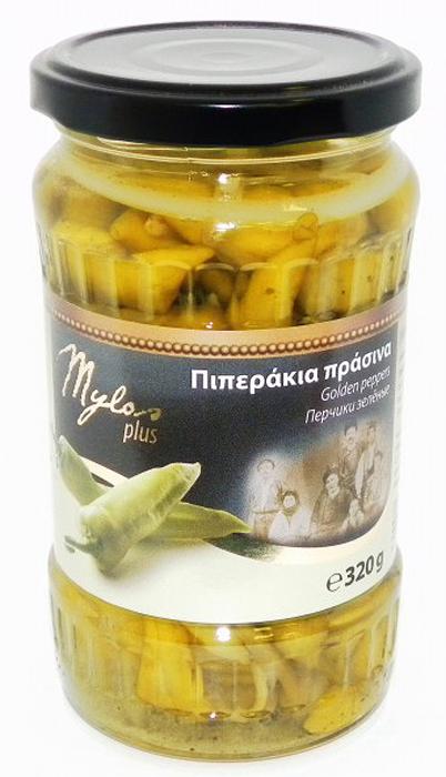 Mylos plus Перец зеленый, 0,37 л almito греческий маринованный зеленый перец 320 мл