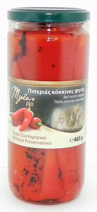 Mylos plus перец красный жареный, 0,5 л almito греческий маринованный зеленый перец 320 мл