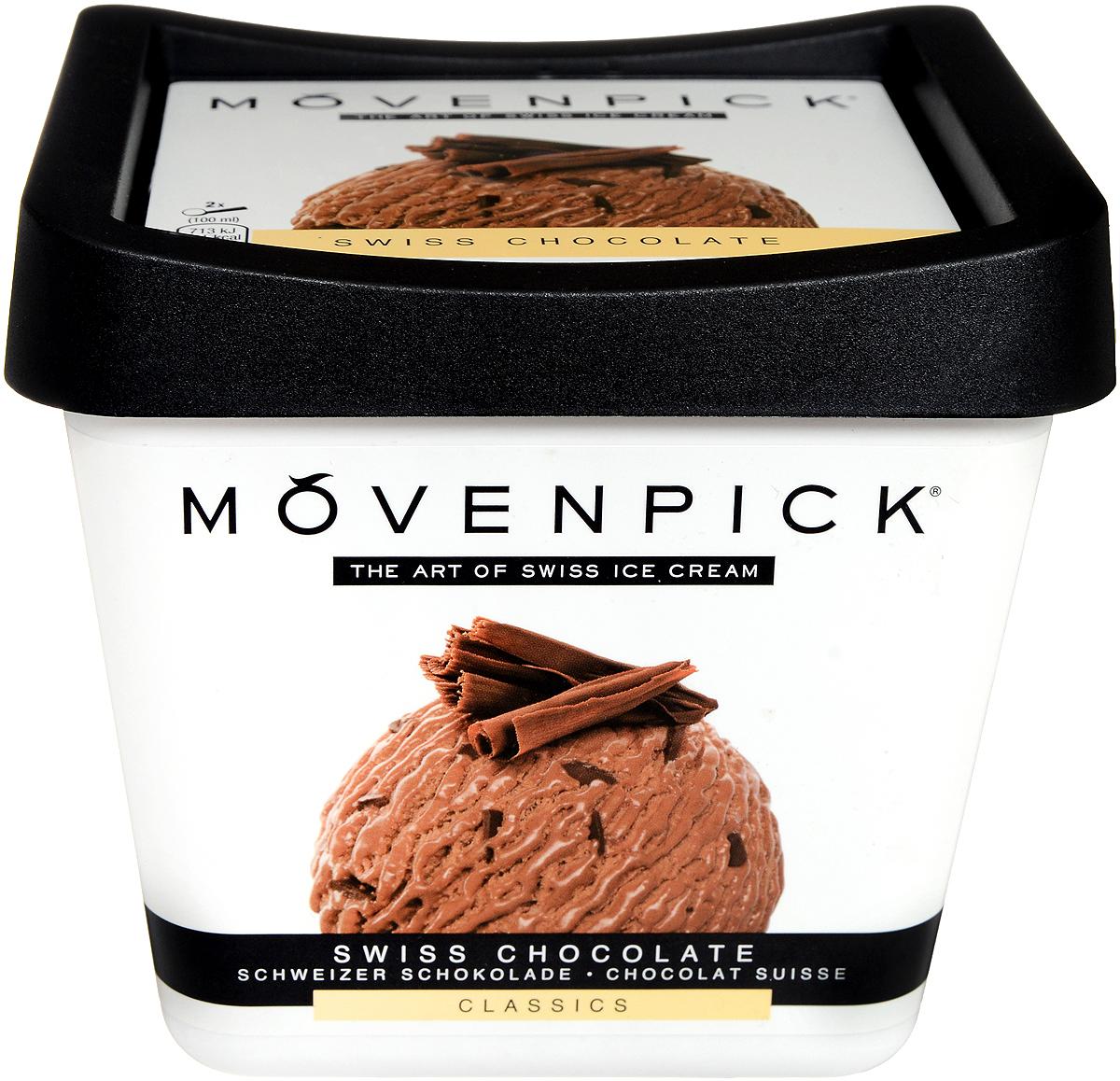 Movenpick Мороженое Швейцарский шоколад, 900 мл муми трубочка для молока сливочный микс со вкусами клубника сливки шоколад сливки персик сливки дыня сливки ежевика сливки 30 г