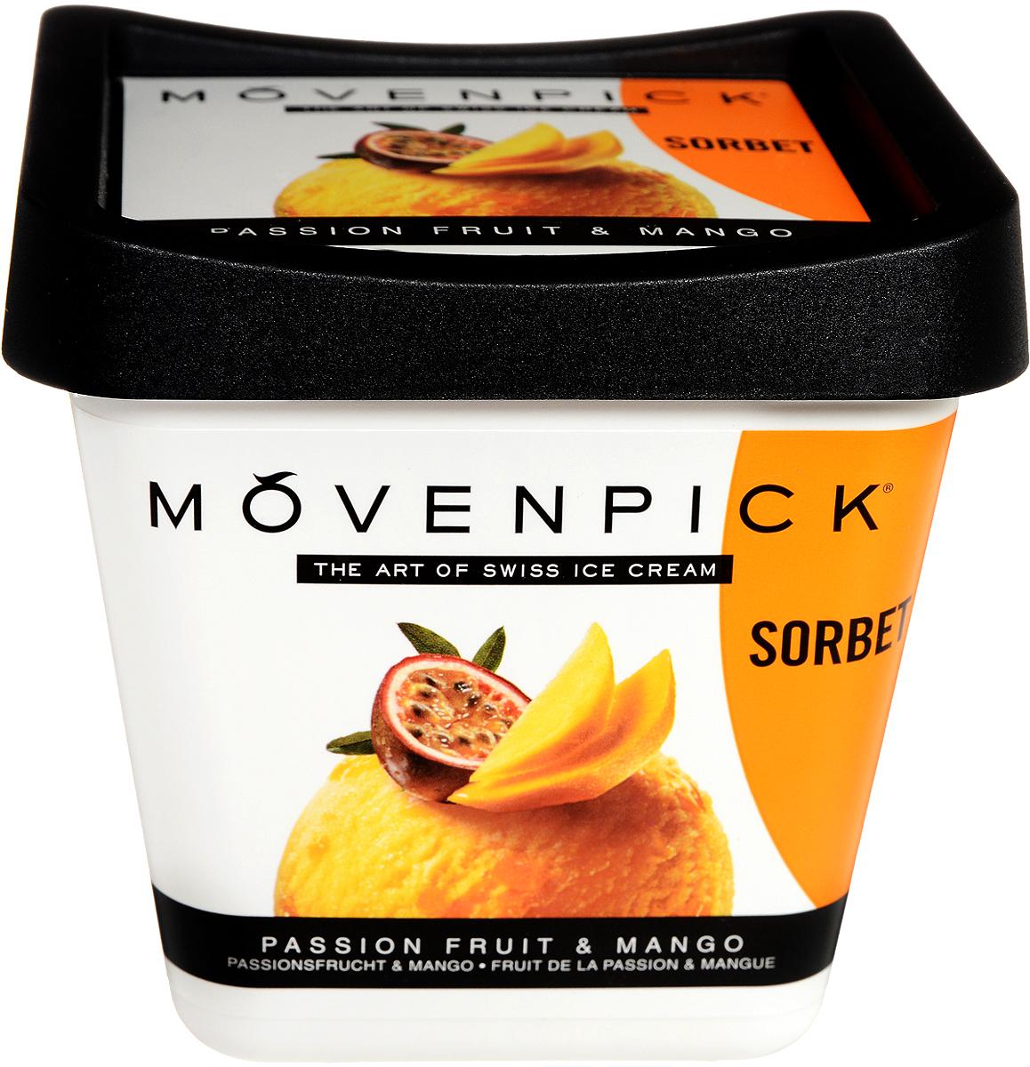Movenpick Сорбет Маракуйя с кусочками манго, 500 мл