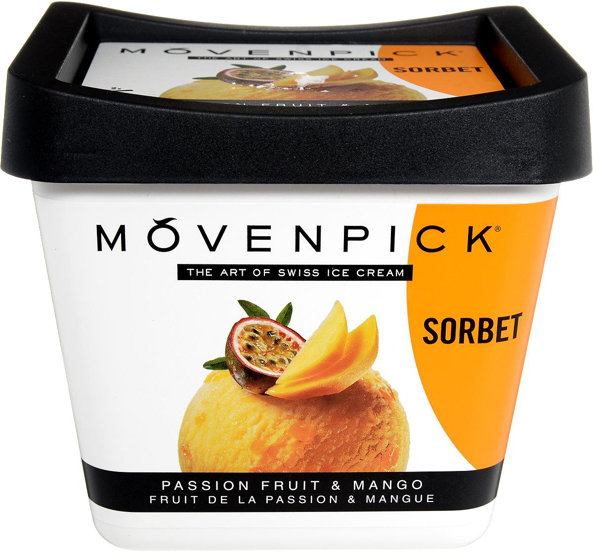 Movenpick Сорбет Маракуйя с кусочками манго, 900 мл movenpick мороженое фисташковое 900 мл
