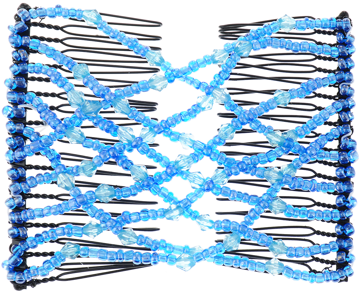 EZ-Combs Заколка Изи-Комбс, одинарная, цвет: голубой. ЗИО_стразы_вид 2 original ud ez rta tank