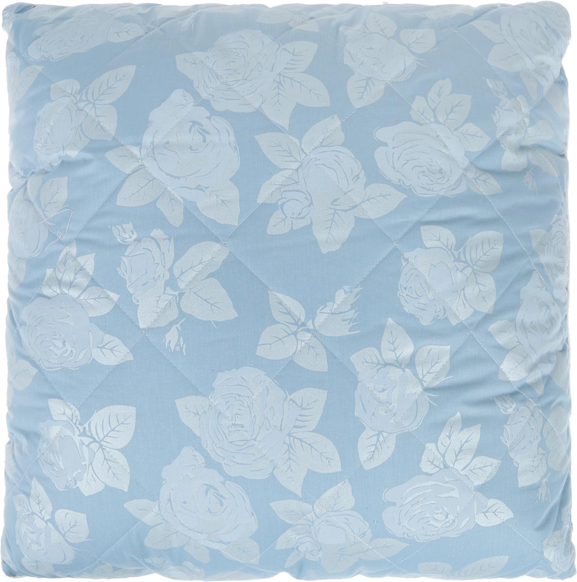 Подушка Bio-Teхtiles Очарование, наполнитель: искусственный лебяжий пух, цвет: голубой, 70 х 70 смSPC644