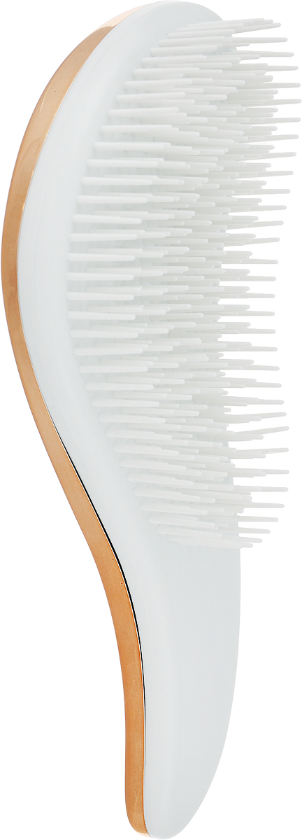 Vortex Расческа массажная Волна, пластиковая, цвет: золотой, 18,5 x 7 x 3,5 см щетка для посуды мфк профит цветы цвет розовый 17 5 x 7 x 5 см
