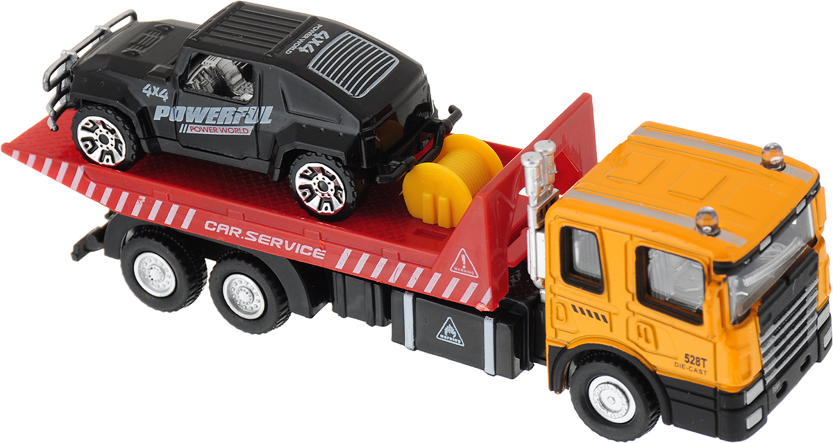 Drift Машина спецтехника Vehicle Transporter внедорожник цвет оранжевый красный черный drift машина фрикционная