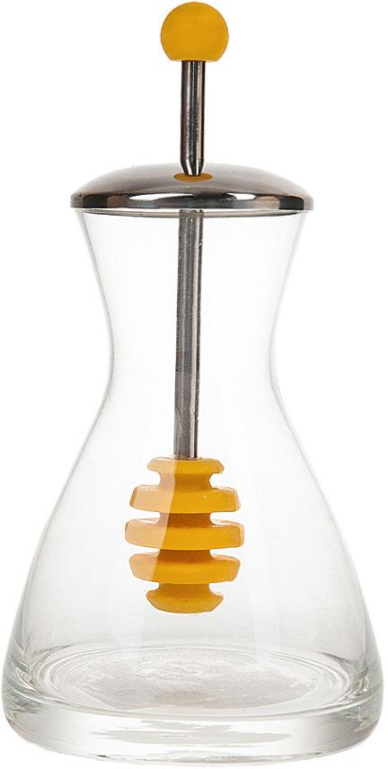 Банка для меда Best Home Kitchen, 250 мл. 54700025470002Банка для меда Best Home Kitchen выполнена из прозрачного стекла.Встроенная в крышку ложечка для меда, делает использование наиболее удобным.