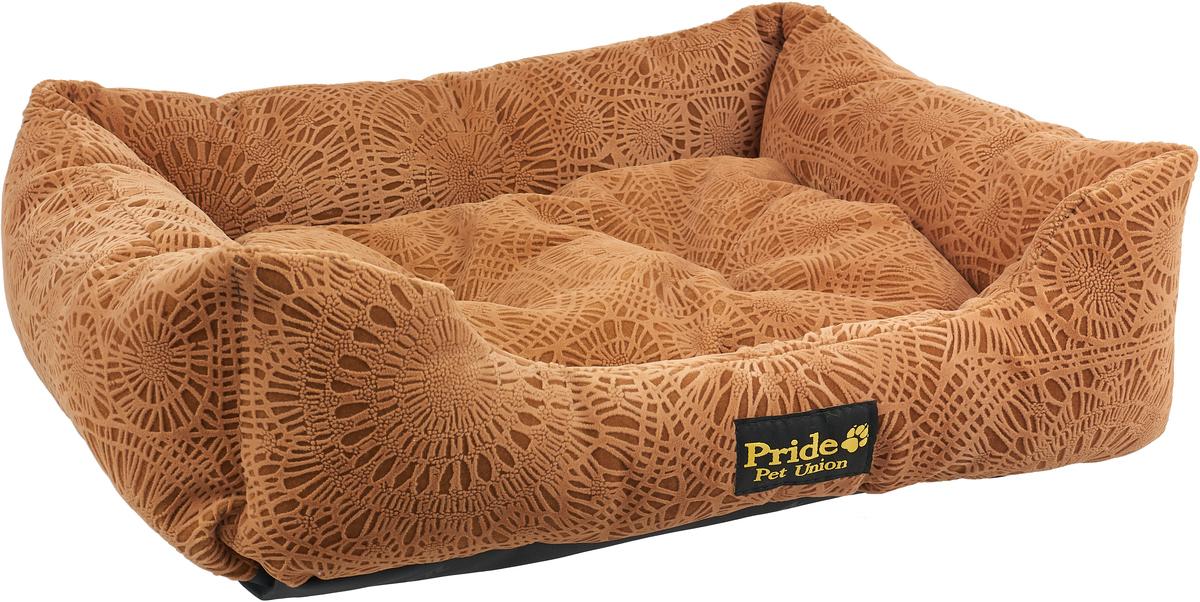 """Лежак для животных Pride """"Фортуна"""", цвет: шоколад, 60 х 50 х 18 см"""