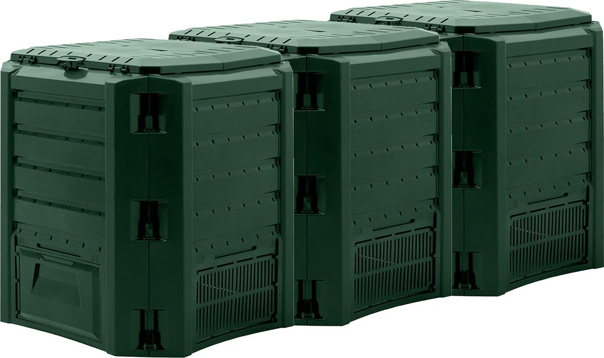 3-х секционныйОбъём: 1200 лГабариты упаковки: 60х27,5х80 смВес брутто: 16,9 кгВес нетто: 15,6 кгМатериал: HDPE Производство: ПольшаЦвет: зеленый