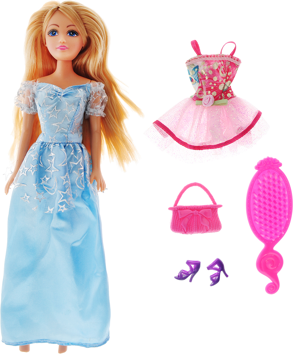 Funville Кукла Glimmer & Style цвет голубой кукла yako m6579 6
