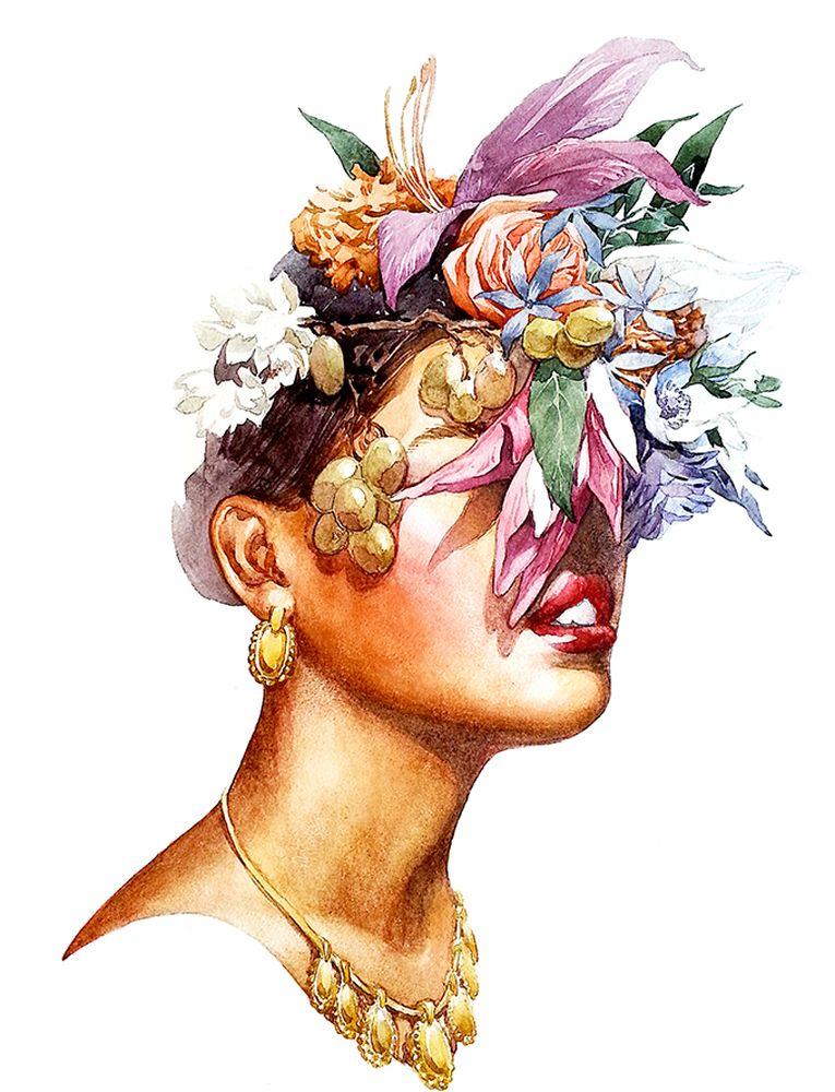 Постер с авторской ботанической акварельной иллюстрацией станет отличным украшением интерьера.Рама не входит в стоимость.Превью является примером размещения в интерьере.