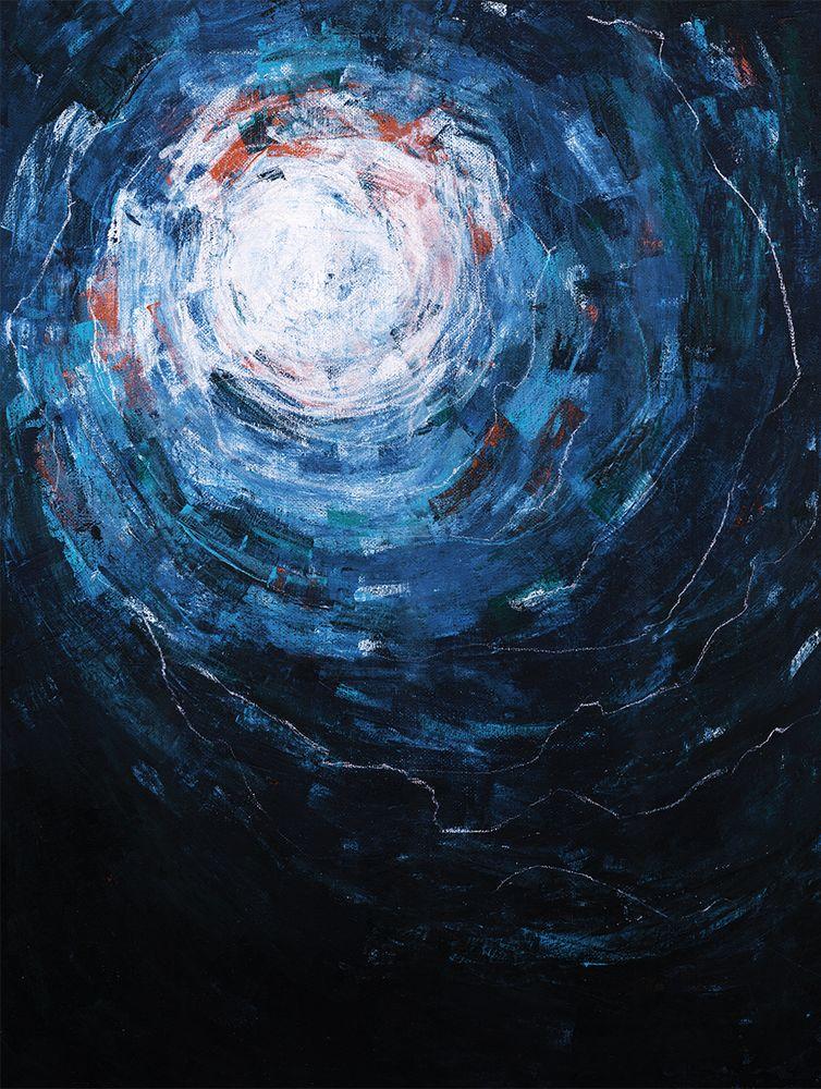 Постер с абстрактным изображением ночного неба. Рама не входит в стоимость. Превью является примером размещения в интерьере.