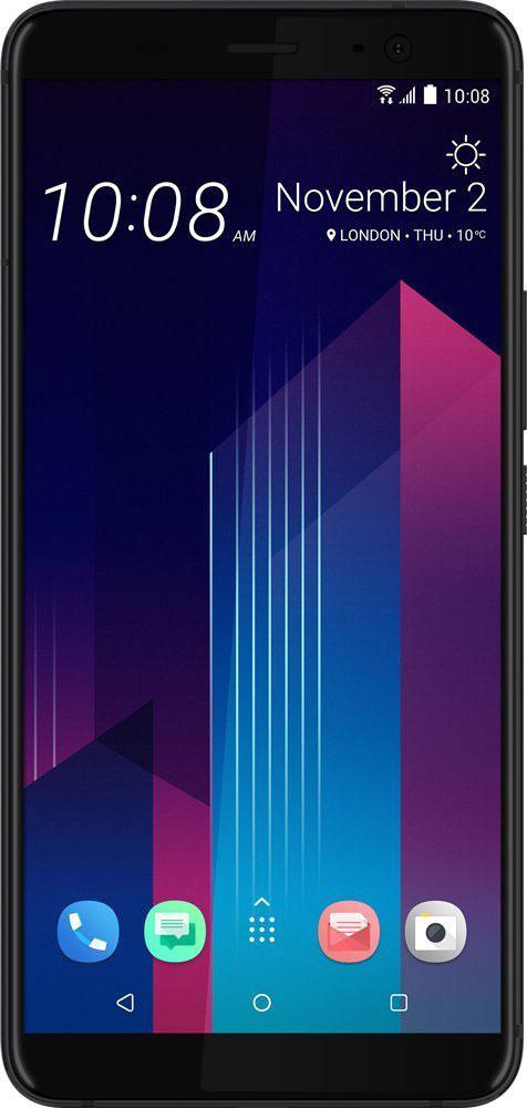 HTC U11+ 128GB, Ceramic Black сотовый телефон htc u11 plus 128gb amazing silver