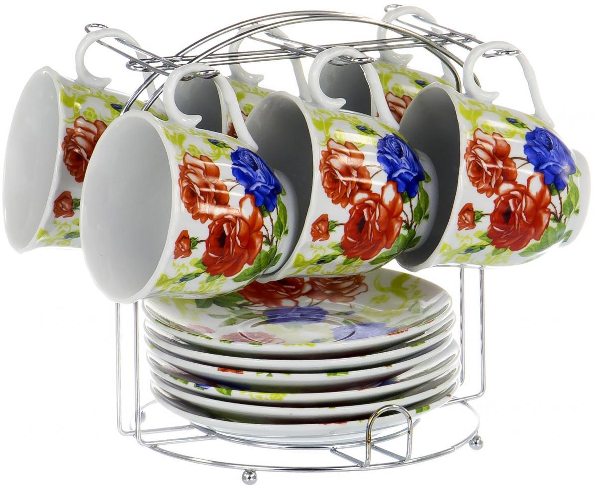 Набор чайный Olaff Metal Stand, 12 предметов. DL-F6MS-173DL-F6MS-173METAL STAND, набор чайный (12) 6 чашек 220мл + 6 блюдец на метал.стенде, упаковка - цвет.бокс