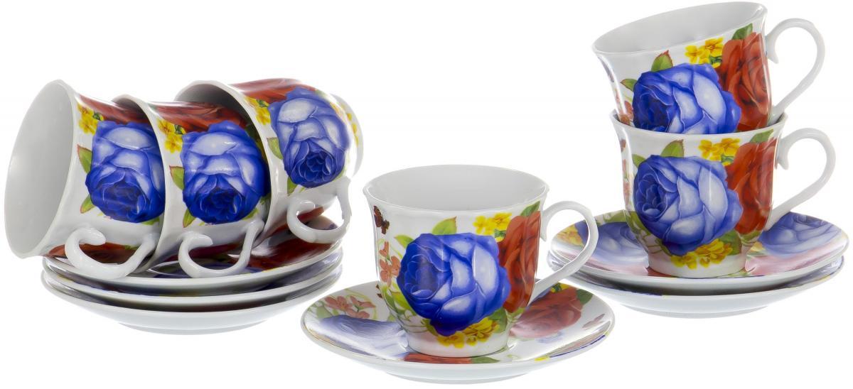 Набор чайный Olaff Round Box, 12 предметов. DL-RF6-197DL-RF6-197ROUND BOX, набор чайный (12) 6 чашек 220мл + 6 блюдец, упаковка - цвет.круг