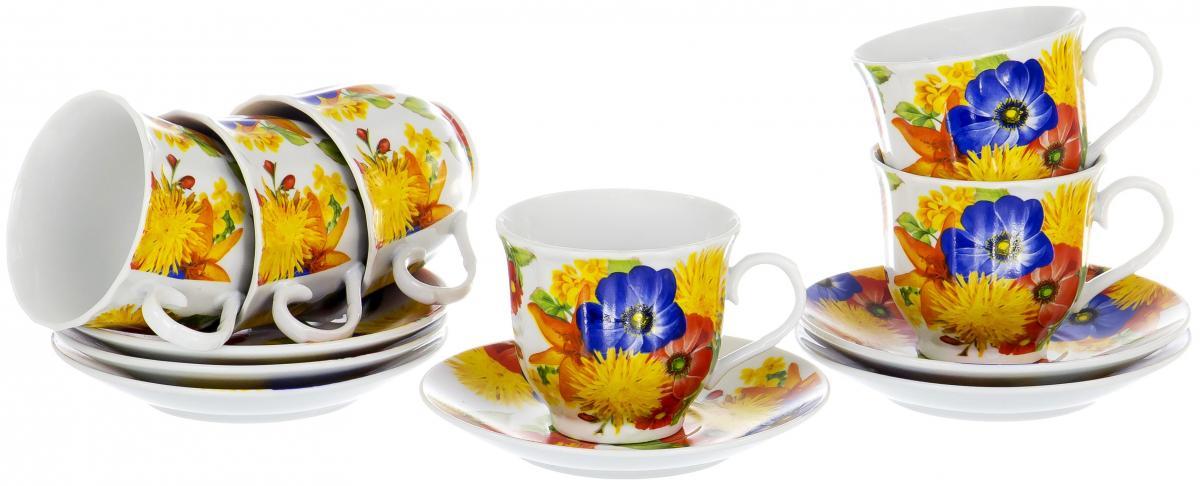 Набор чайный Olaff Round Box, 12 предметов. DL-RF6-199DL-RF6-199ROUND BOX, набор чайный (12) 6 чашек 220мл + 6 блюдец, упаковка - цвет.круг