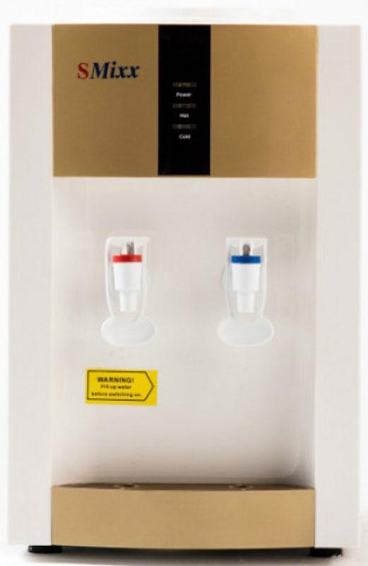 SMixx 16TD/E, Gold White кулер для воды16TD/E Gold SilverНастольный кулер для воды SMixx 16 ТD/Е c простой электронной системой охлаждения и стандартным бакомнагрева - хорошее решение для использования дома или в небольшом офисе. Типовой бак нагрева мощностью 550Вт способен нагреть воду до температуры 90 градусов. Электронное охлаждение охладит до 12 градусов нижекомнатной температуры.