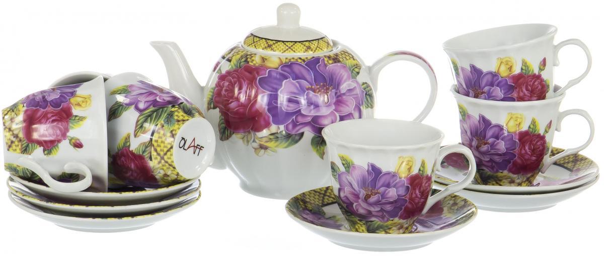 Набор чайный Olaff Square Gift Box, 13 предметов чайник 250 мл elff decoration чайник 250 мл