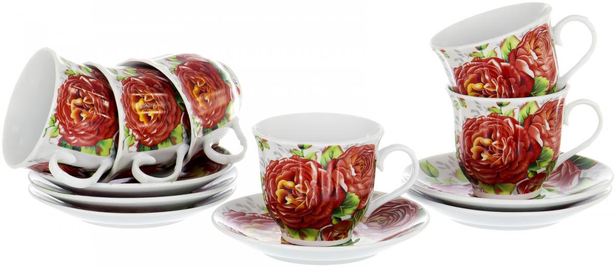 Набор чайный Olaff Round Box, 12 предметов. DL-RF6-221DL-RF6-221ROUND BOX, набор чайный (12) 6 чашек 220мл + 6 блюдец, упаковка - цвет.круг