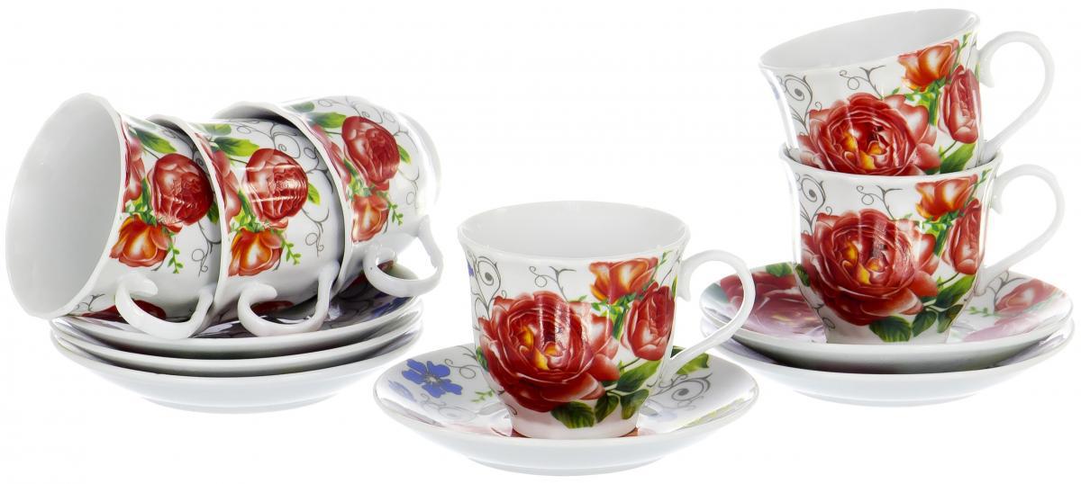 Набор чайный Olaff Round Box, 12 предметов. DL-RF6-229DL-RF6-229ROUND BOX, набор чайный (12) 6 чашек 220мл + 6 блюдец, упаковка - цвет.круг