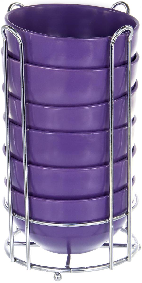 Набор салатников Elrington Моно, на подставке, 7 предметов. JNX-SO-10507JNX-SO-10507Набор салатников Elrington Моно состоит из 6 салатников и подставки. Салатники изготовлены из керамики с цветным покрытием. Подставка изготовлена из нержавеющей стали.