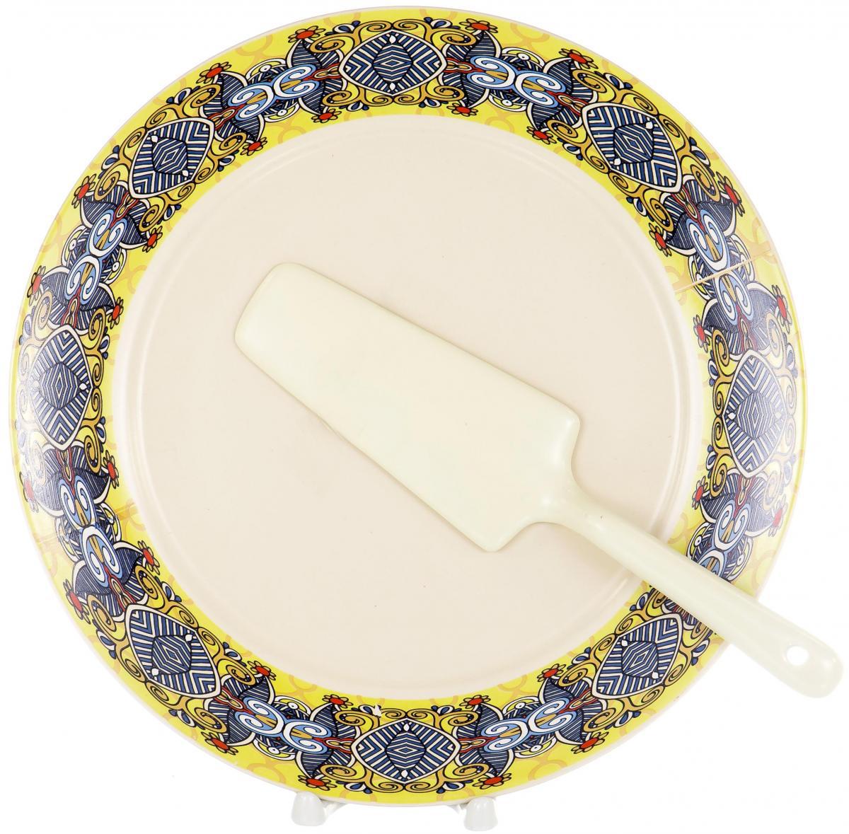 Набор для торта Olaff, 2 предмета. KR-SCP011-1056DKR-SCP011-1056DНабор для торта Olaff состоит из тарелки и лопатки, выполненных из высококачественного фарфора. Изделия идеальны для подачи тортов, пирогов и другой выпечки. Изысканный дизайн сделает набор эффектным украшением праздничного стола.