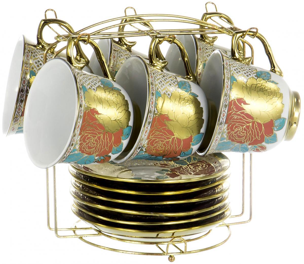 Набор чайный Olaff Цветы, 12 предметов. YSG-12MS-B-003 чайный набор 4пр chance v 220мл керамика подарочная упаковка
