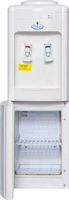 SMixx 08 L-B/E, White кулер для воды08 L-B/E WhiteАккуратный напольный кулер для воды SMixx 08 L-B/E с верхней загрузкой бутыли, системой нагрева икомпрессорным охлаждением. Корпус выполнен из прочного пластика. Вода польется при нажатии на кран. Внизу имеется холодильник объемом 16 л.Нагрев - не меньше 5 литров в час до температуры +90°С (мощность 550 Вт) Охлаждение - 2 литра в час до температуры +10°С (мощность 120 Вт).